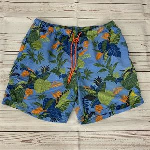 Tommy Bahama relax Hawaiian floral swim trunks L